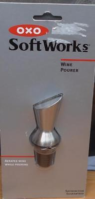 OXO Good Grips Stainless Steel Wine Pourer - BRAND NEW IN PACKAGE - USEFUL ITEM