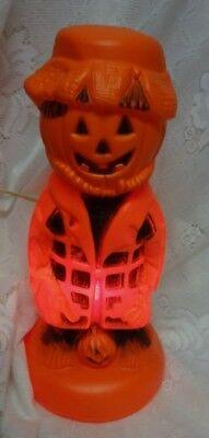 Vintage Pumpkin Halloween Light Up Blowmold
