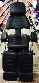 Large Black Reclinable Leather Chair
