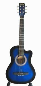 Free Shipping ! Superb Blue acoustic guitar 3/4 size 36 inch for kids iMusic813