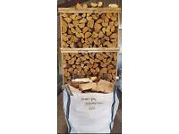 Dumpy Bag Kiln Dry Hardwood Logs Birch Ash Oak £65 Inc Free Local Delivery Ready To Burn Firewood