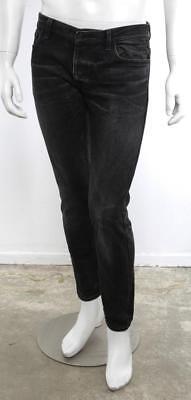 NICOLAS ANDREAS TARALIS Mens Black Grey Distressed Slim Leg Denim Jeans Pants 31