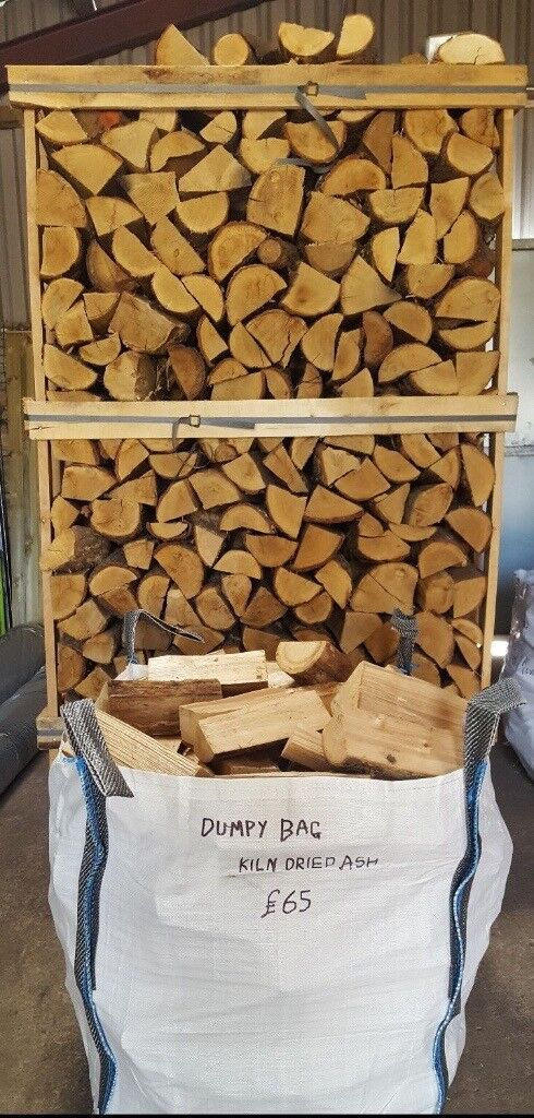 Dumpy Bag Kiln Dry Hardwood Firewood Logs Birch, Ash, Oak £65 Free Local Delivery Sale 0161 962 9127