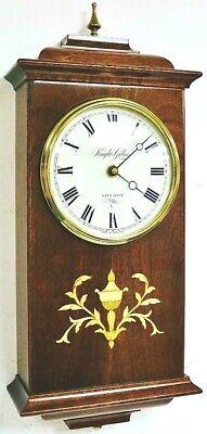 Quality Solid Mahogany Drop Dial Wall Clock by Knight & Gibbins London V Heavy