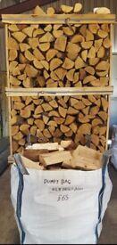 Dumpy Bag Kiln Dried Hardwood Logs BIRCH ASH OAK £65 Free Local Delivery Call 0161 962 9127 7 Days