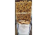 DUMPY BAG KILN DRY HARDWOOD LOGS BIRCH ASH OAK FIREWOOD ONLY £65 INC FREE LOCAL DELIVERY