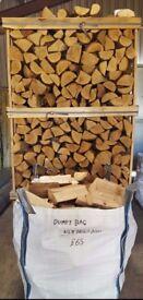DUMPY BAG KILN DRY HARDWOOD BIRCH ASH OAK FIREWOOD LOGS ONLY £65 EACH DELIVERY MERE