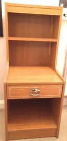 Two old style bedside cabinet