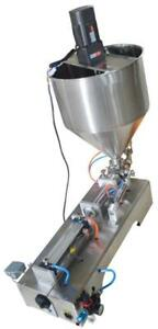 Title: 110V 500ml Paste Filling Machine with Vertical Mixing Hopper 160434