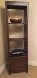 Barker & Stonehouse Dark Wood Display Unit / Shelves