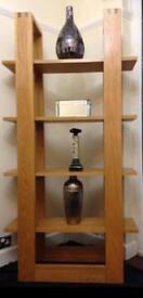 Oak wood display shelving unit (matching tv cabinet sold separately)