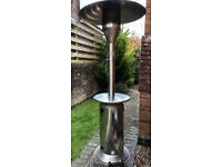 Large Propane Gas Patio Heater complete with adjustable deflector, castor wheels & connector