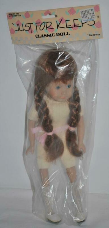 "Just For Keeps Classic Doll 13"" Soft Body Lt, Brown Long Hair BDB1001-052"
