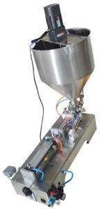 110V 500ml Paste Filling Machine with Vertical Mixing Hopper 160434