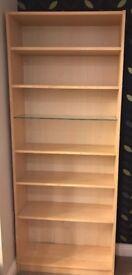 Billy Bookcase Birch Veneer with glass shelf