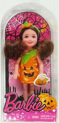 Halloween Auburn Haired Chelsea Doll in Pumpkin Costume (Little Sister of Barb.. - Little Kids In Halloween Costumes