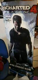 Uncharted 4 Standee Cutout 5 foot tall