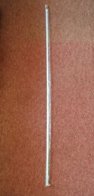 """White 12mm Twist and Fit Tension Rod Extendable Pole For Net Curtains 134cm - 231cm approx 52.5""""-91"""""""