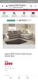 Corner sofa and spin chair