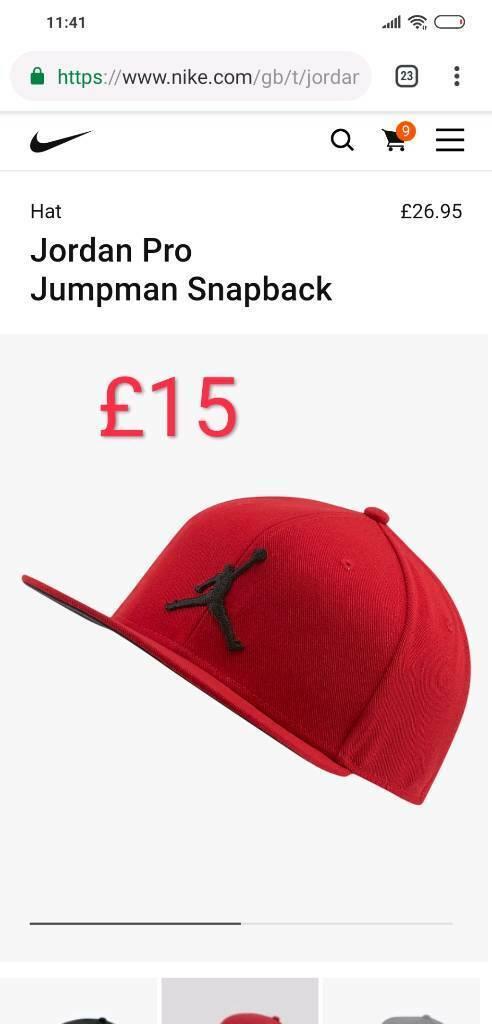 b6c4889ab85a Red Nike Air Jordan Jumpman Snapback Cap