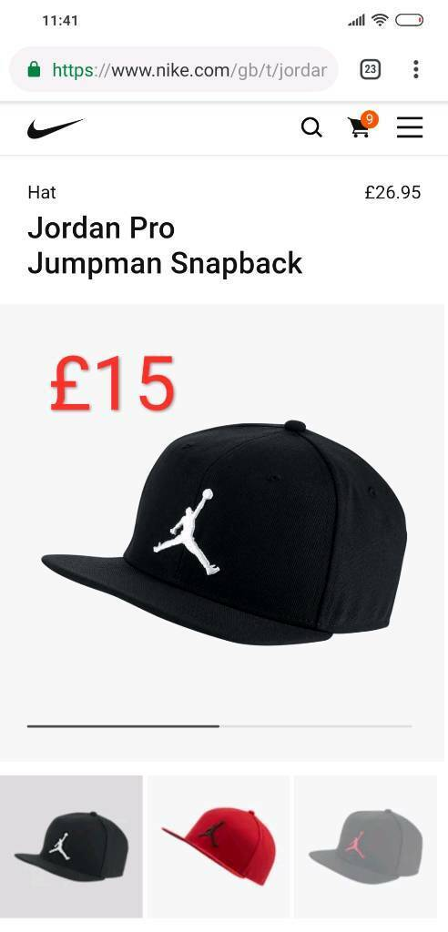 a4b3f46c4bb7ae Black Air Jordan Jumpman Snapback Cap
