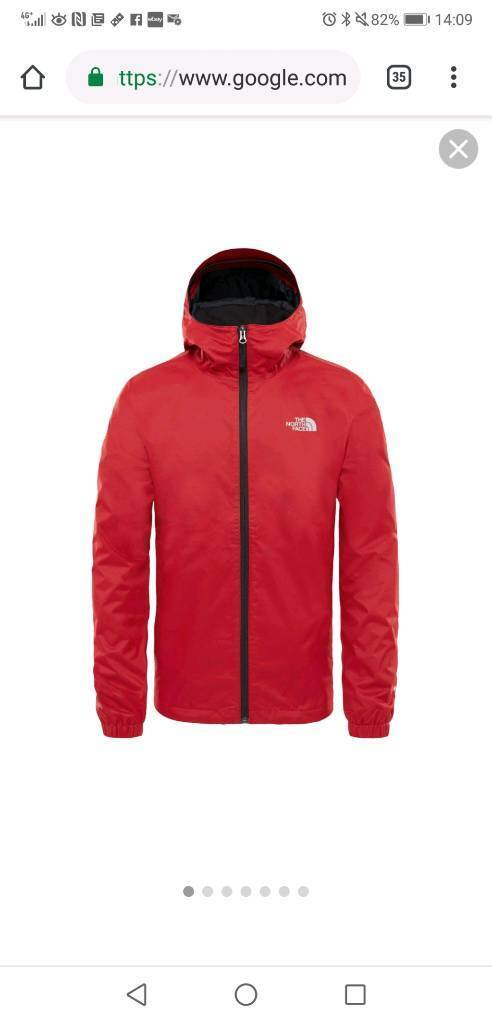 56a723fde1 The North Face Quest Jacket Red - LIKE NEW - XL