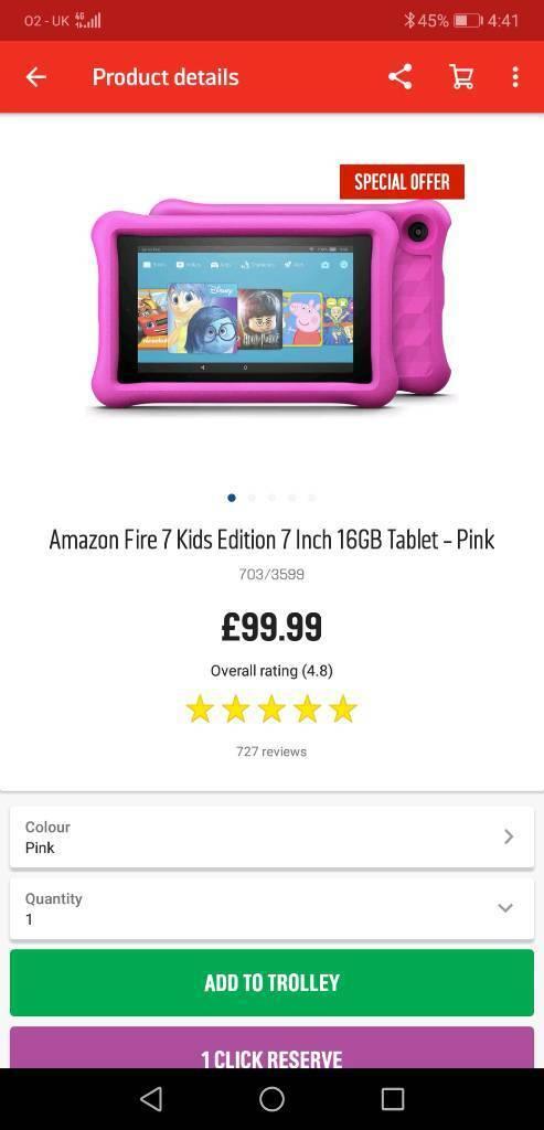 kids amazon fire tablet | in Kilmarnock, East Ayrshire | Gumtree