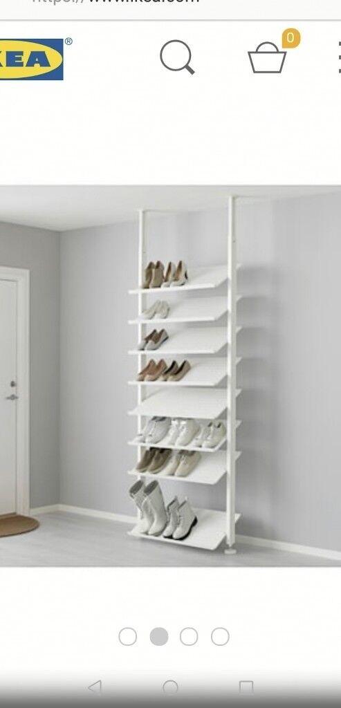Ikea Shoe Rack Shelves Storage Floor To Ceiling