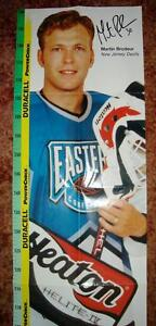 UNUSED 1997 MARTIN BRODEUR NHL DURACELL BATTERY GROWTH CHART