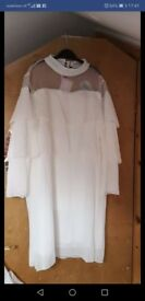 Brand new white ladies dress size L