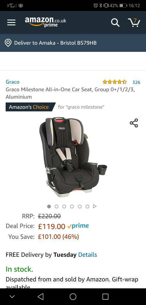 f2bec61a5d6c Graco Milestone 0+1,2,3 car seat | in Gloucester Road, Bristol | Gumtree