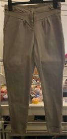 Pale grey chino style trousers