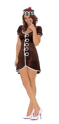 Elegant Moments 9110 Cupcake Cutie Costume Dark Brown Adult Women's 2 piece M