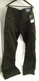 "Brand New Oxford Route One ""DNM001"" Freeway Cargo Pants (Kevlar Jeans) in Black"