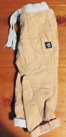 Pair of boys cargo trousers 6-9 months
