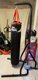 Boxing Bag & Stand with gloves