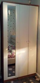 3 door cream wardrobe excellent condition