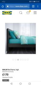 Black double malm bed for sale