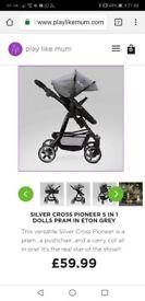 Silver Cross Pioneer dolls pram