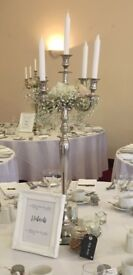 Candelabra (plus or minus candles) 80cm -six available