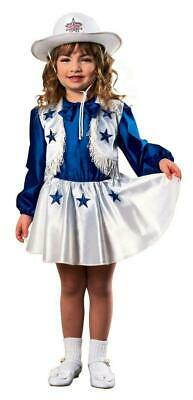 Dallas Cowboy Cheerleading Outfit (NEW Rubies Girl's Dallas Cowboys Cheerleader Outfit Toddler Size 1-2)