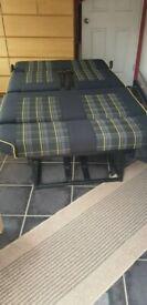 Rock n roll bed 3/4 width VW T5 T6 camper campervan.