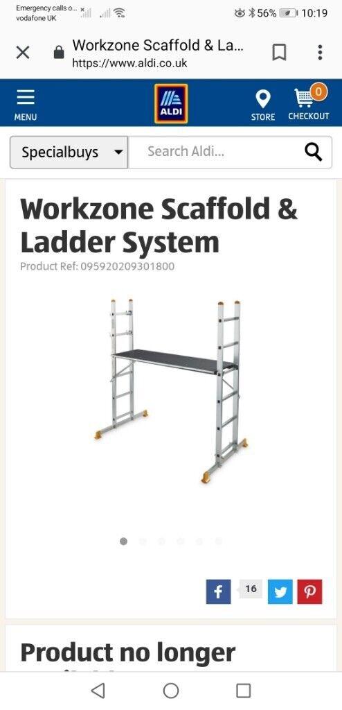 Aldi scaffold/ladder adjustable   in Pontllanfraith, Caerphilly   Gumtree