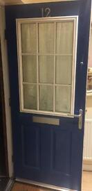 Nine Panel Glass Front Door
