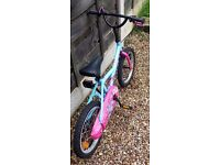 Girls Bycicle pink and blue Btwin Decathlon 3-4 years size