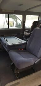 Vwt4 caravelle rear seats with seat belts