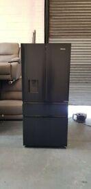 HISENSE PureFlat RF540N4WF1 Fridge Freezer Black Steel