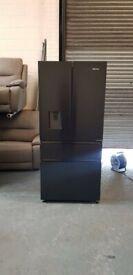 HISENSE PureFlat RF540N4WF1 Fridge Freezer - Black Steel