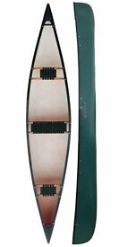 Three Man Canadian Canoe - 16ft / 486cm Long - Green - Riber 16