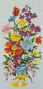 VINTAGE PAINTED NEEDLEPOINT CANVAS BY ROYAL PARIS (#0808)